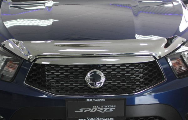 Actyon Sports Chrome Bonnet Protector